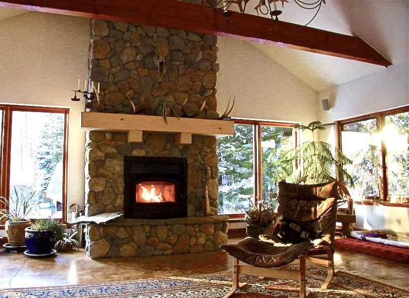 great bear chalet fireplace accommodations