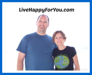 picture of chris and kelly watkins with the words livehappyforyou.com