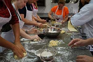 Learning how to make authentic pasta