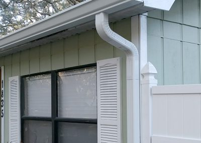 Gutter and downspout install