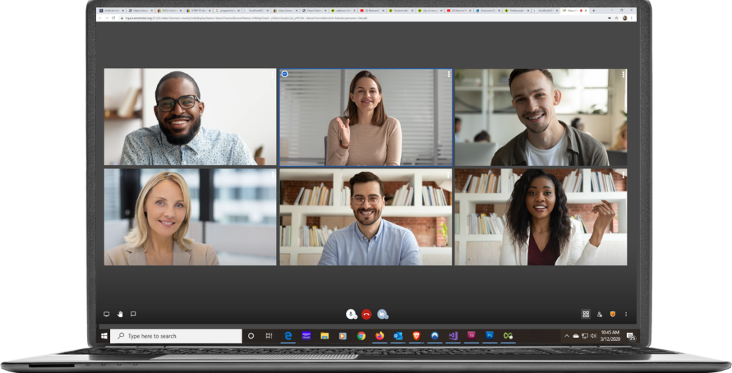 Video Conference call capabilities of the InfinityOne
