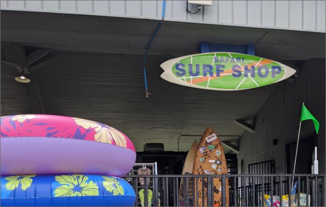 Safari Joe's H2O Shopping Things to Do Surf Shop