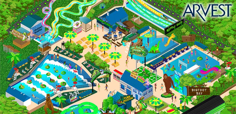 Safari Joe's H2O - water park - map