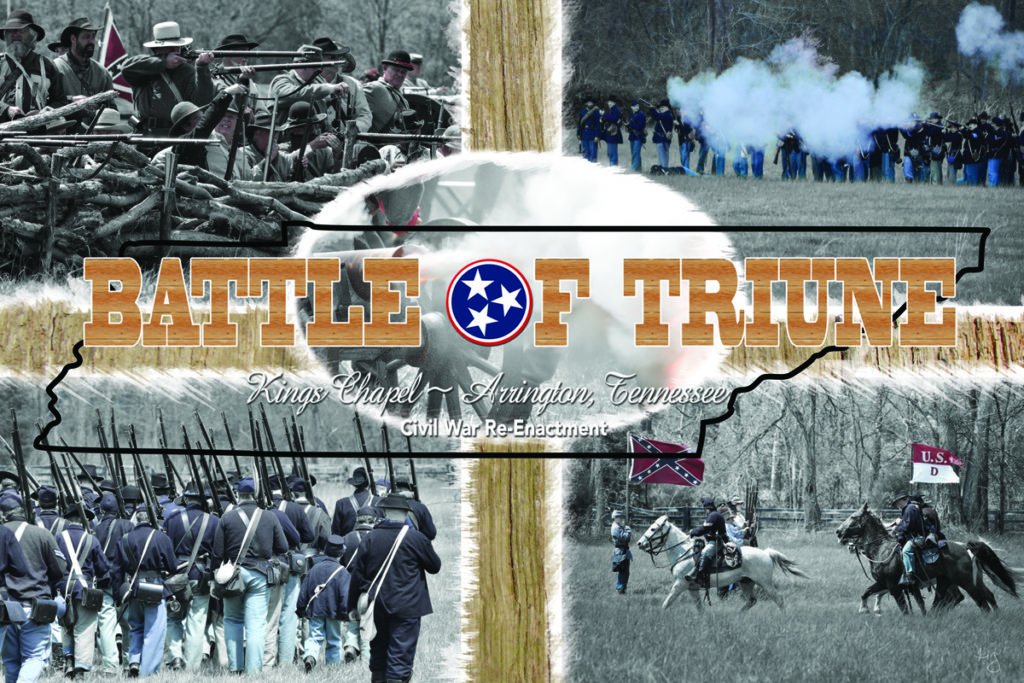 Annual Civil War reenactment in Franklin, Tennessee area