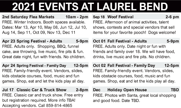 Events at Laurel Bend