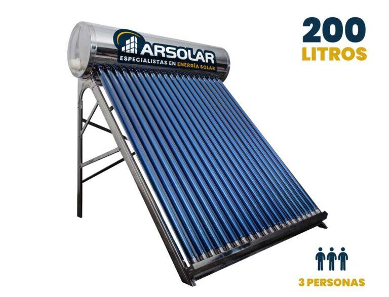 Termotanque solar de 200L