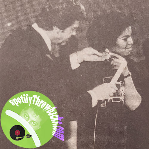 The Late Dick Clark on stage with the very young Janet Jackson, on American Bandstand!