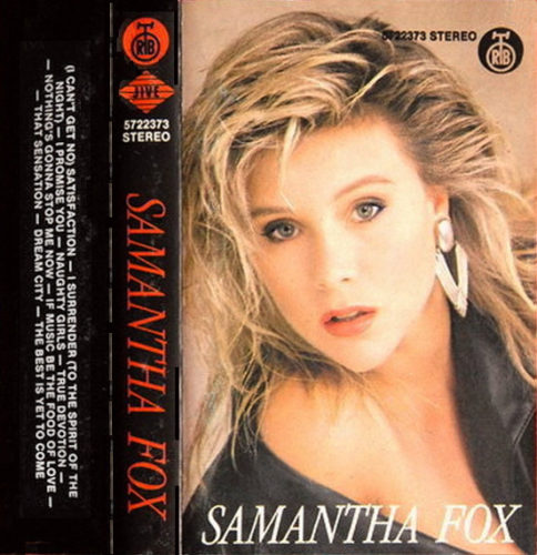 Singer and porn star, Samantha Fox! SpotifyThrowbacks.com