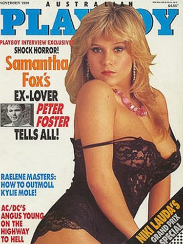 Pinup girl Samantha Fox. SpotifyThrowback.com