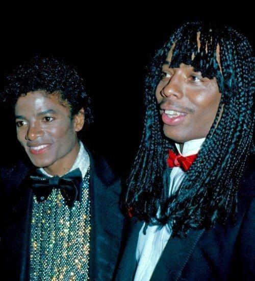 Michael Jackson & Rick James - SpotifyThrowbacks.com