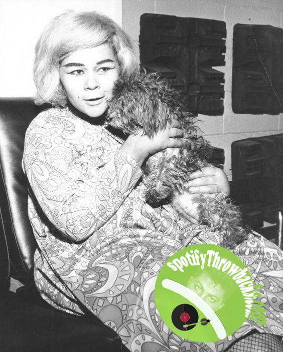 Etta James and Pet - SpotifyThrowbacks.com