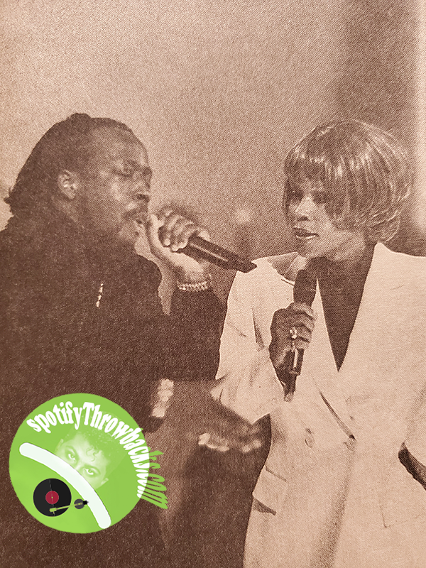 Wyclef & the late Whitney Houston performing - SpotifyThrowbacks.com
