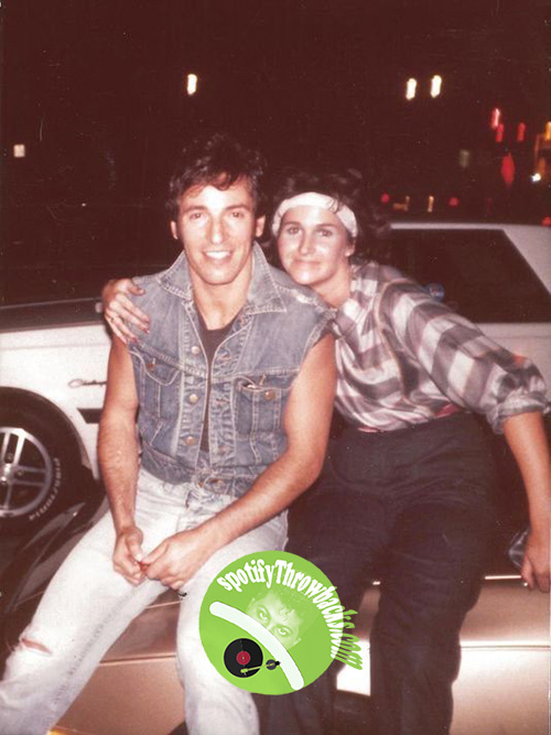 Bruce Springsteen and friend - SpotifyThrowbacks.com