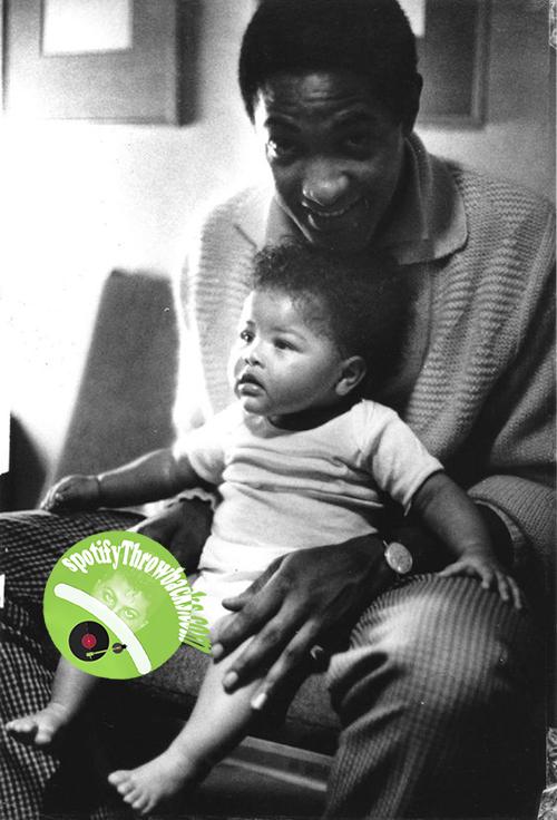 Sam Cooke with child - SpotifyThrowbacks.com