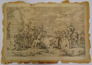damaged artwork on paper