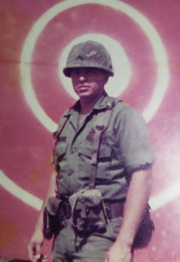 Raymon Morales owner of dunright plumbing in military uniform