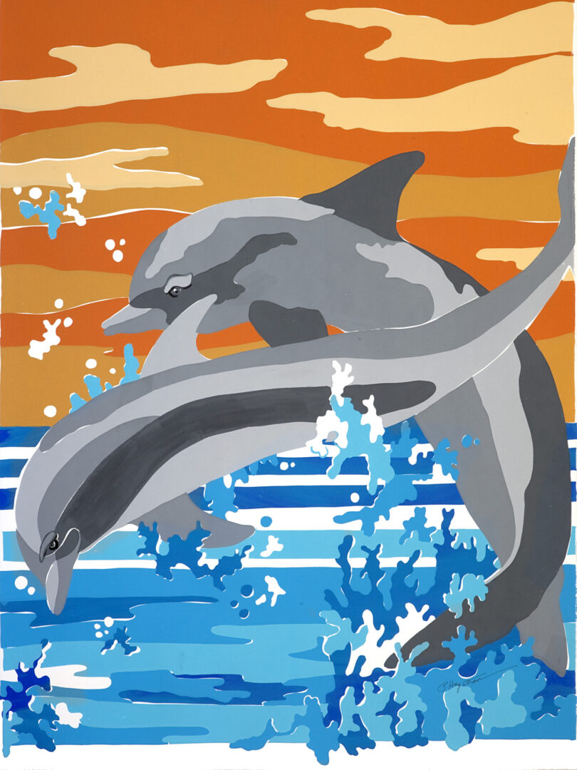 Dolphin Duo LEP-01 Framed $325 & Unframed $225