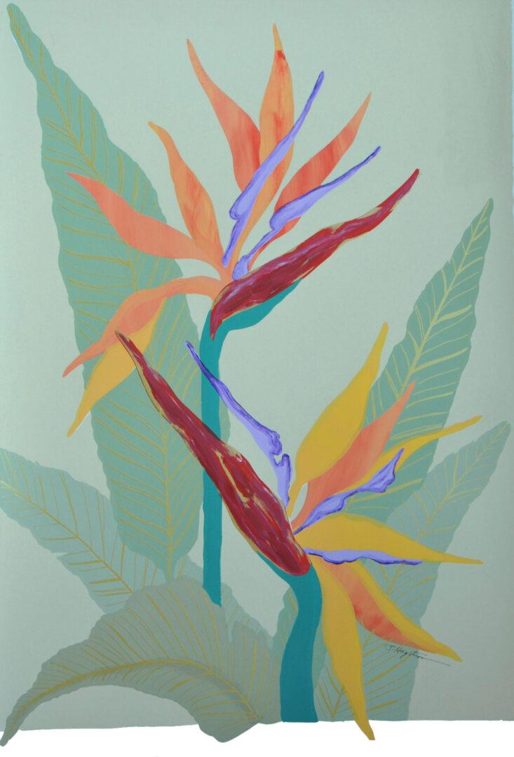 Bird of Paradise-Floral SC-8 Framed $395 & Unframed $295