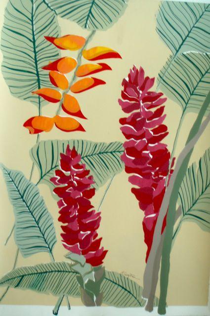 Ginger Flowers SC-09 Framed $395 & Unframed $295