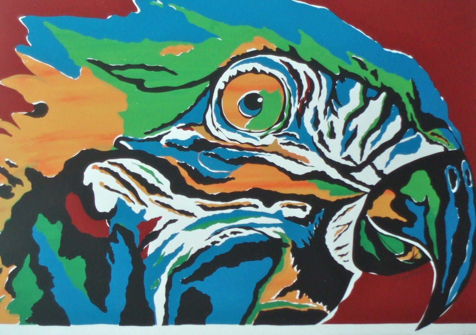 Bird of Paradise-Parrot SC-3 Framed $395 & Unframed $295