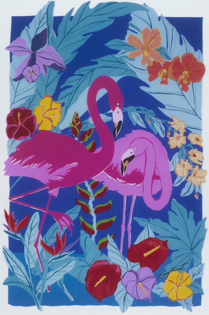 Flamingo Duo LEP-33 Framed $325 & Unframed $225