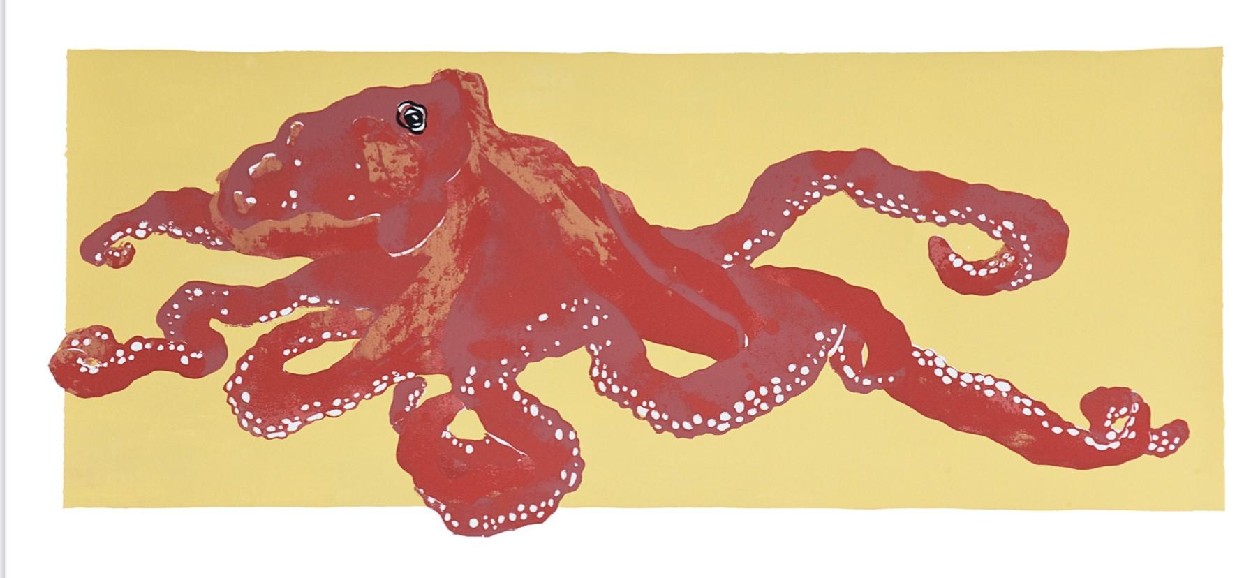 Denizen of the Deep Octopus LEP-11 Framed $295 & Unframed $195