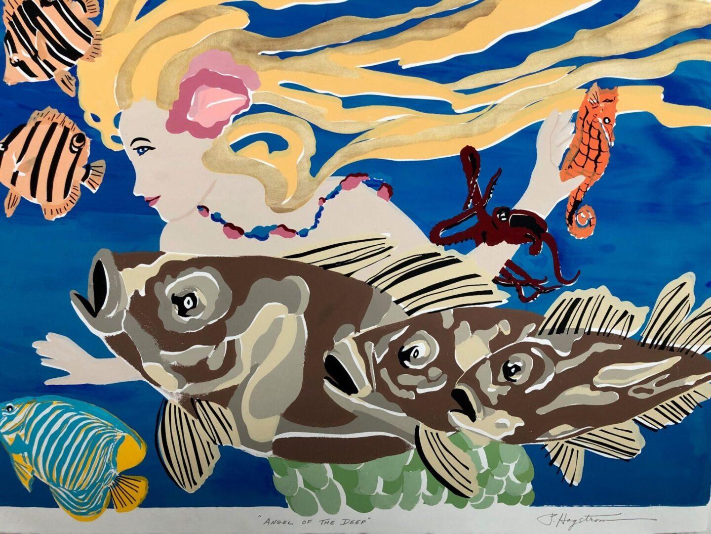 Angel of the Deep - Mermaid SC-4 Framed $395 & Unframed $295