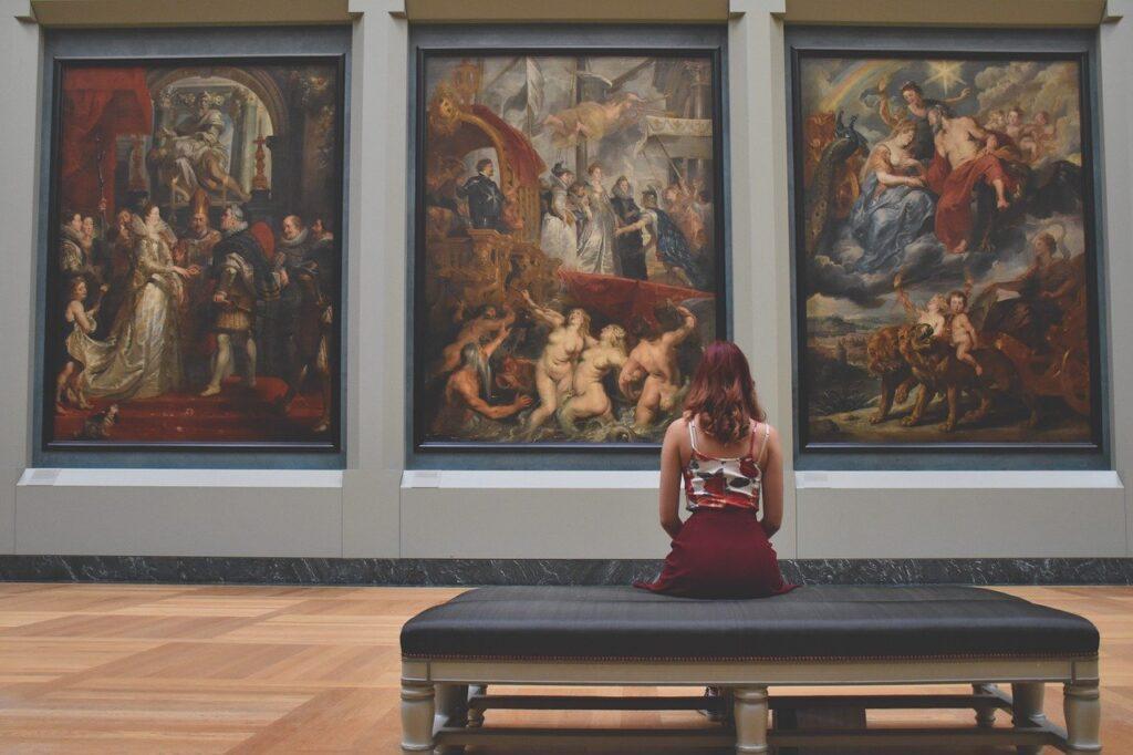 woman, art, creative