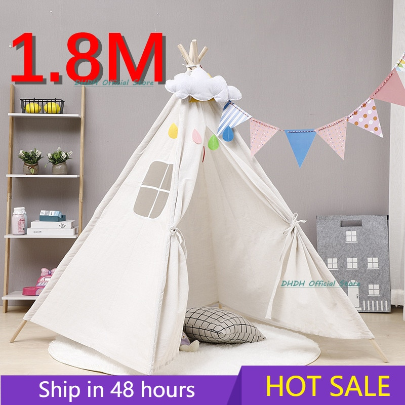 1.8M Portable Children's Tents Tipi Play House Kids