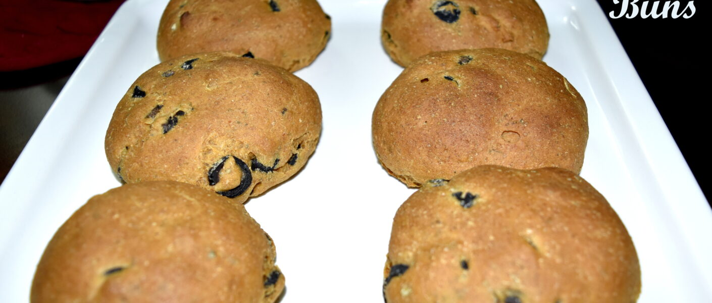 Black Olive Buns with Herbs