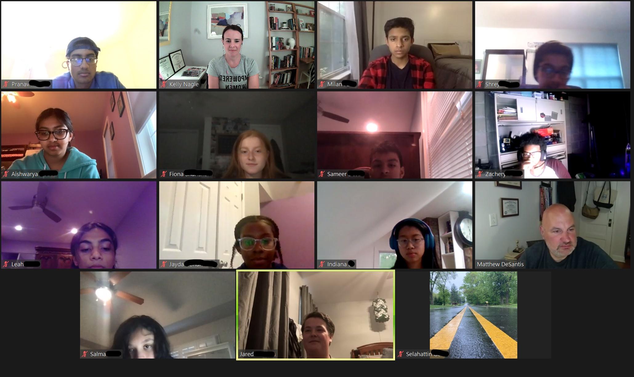 Twelve research associates of the summer research cohort