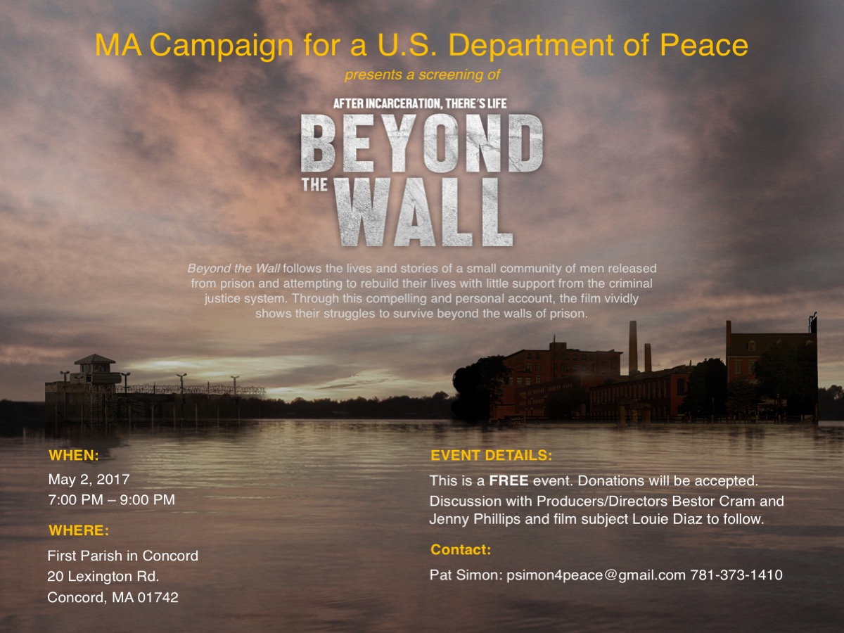 MA Campaign for a U.S. Department of Peace Invite