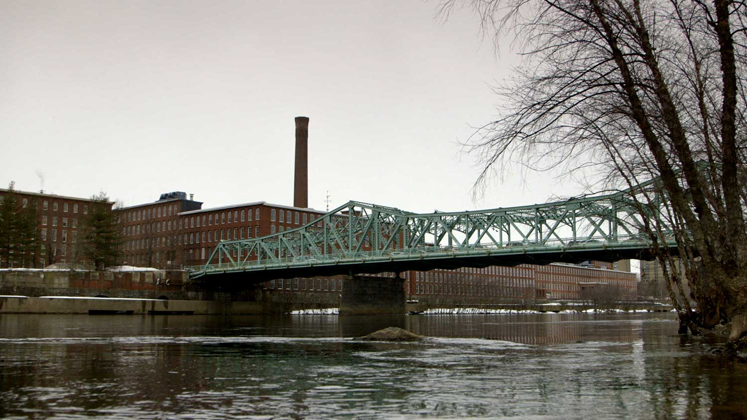 The Merrimack River in Lowell, MA