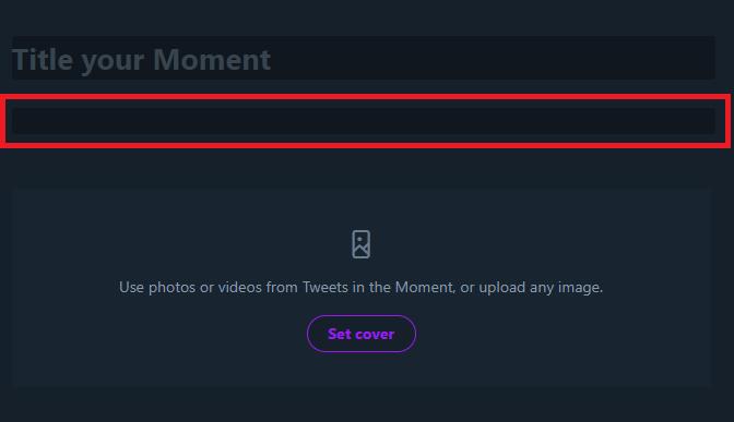 twitter moment description