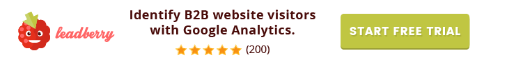 Lead Berry web visitor identification for Google Analytics