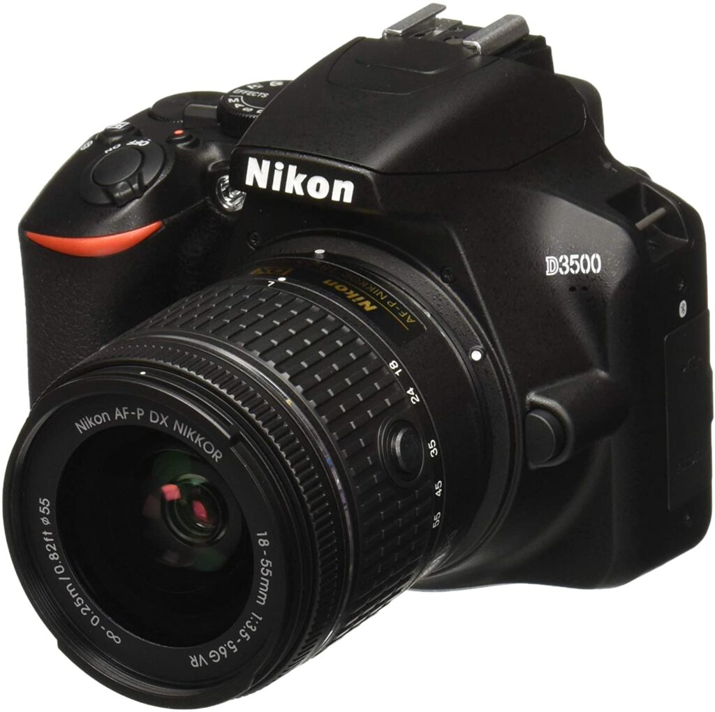 Nikon D3500, a solid choice for taking overhead videos