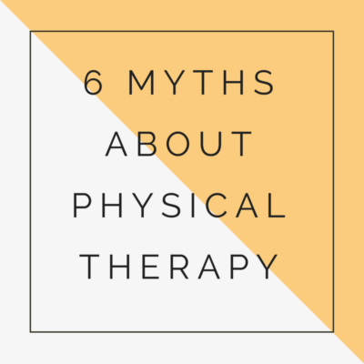 myths about physical therapy