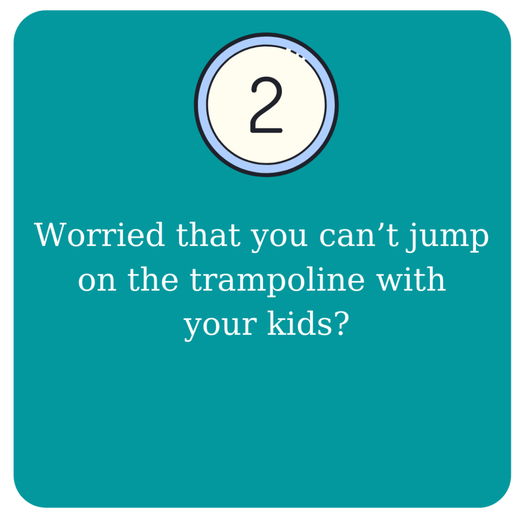 Worried that your can't jump on the trampoline with you kids?