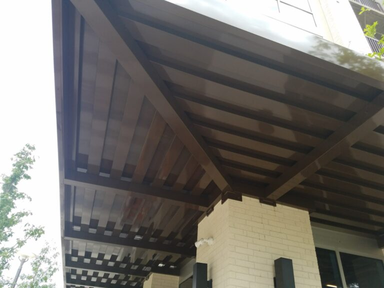 brown epic metal canopy