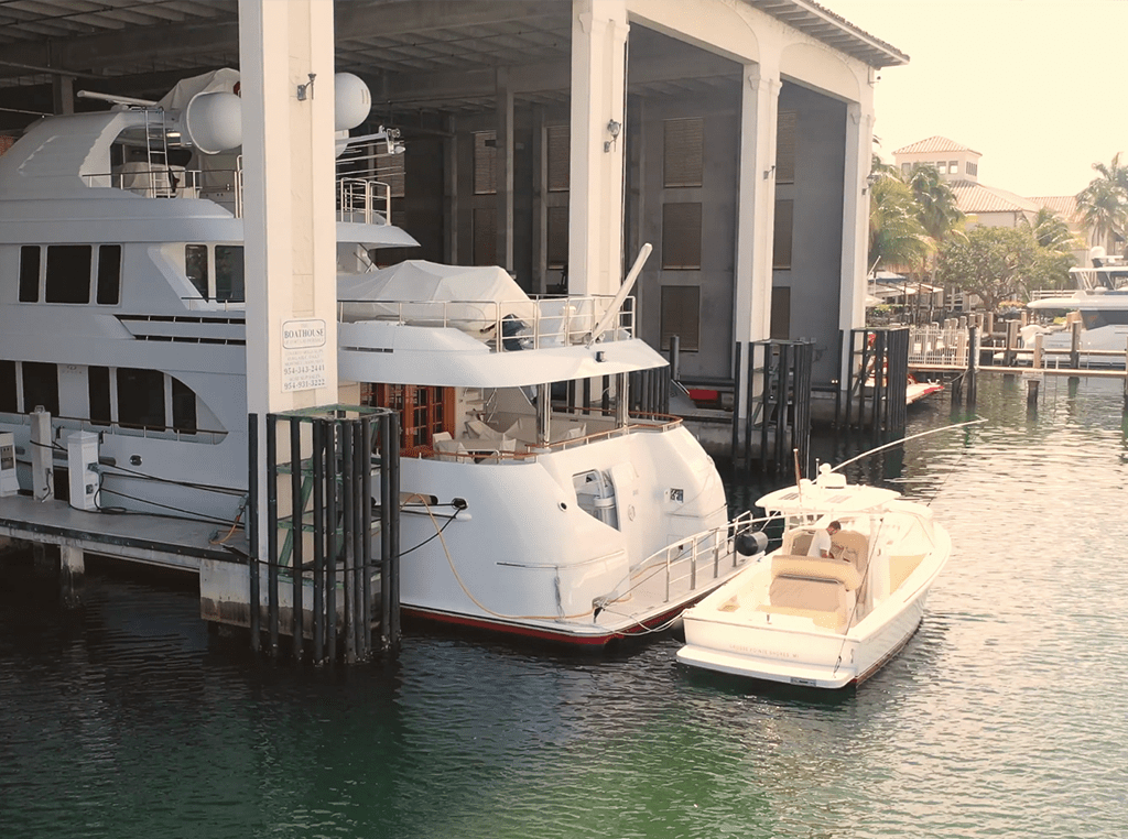 Boathouse Yacht Facility with Tender dockage