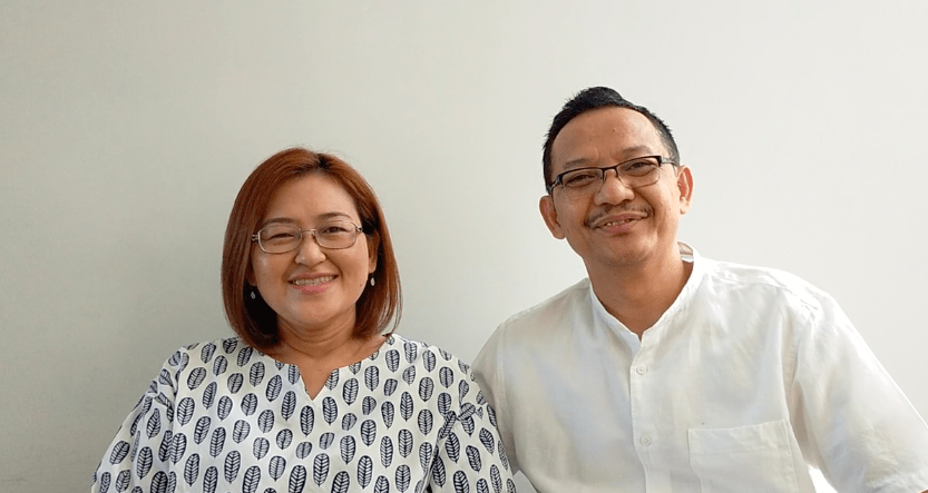Parents Johnson and Alia from Indonesia. Good Enough Parenting helped them develop a strong bond with their child.