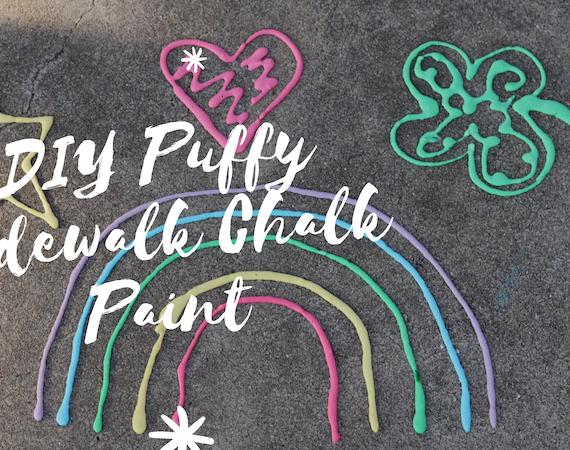 DIY Puffy Sidewalk Chalk Paint