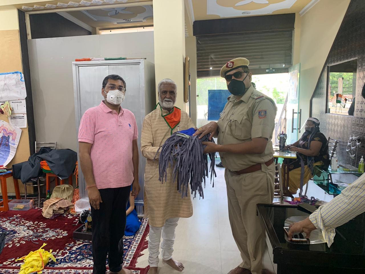 Shanti Devi Mittal foundation-mask distribution