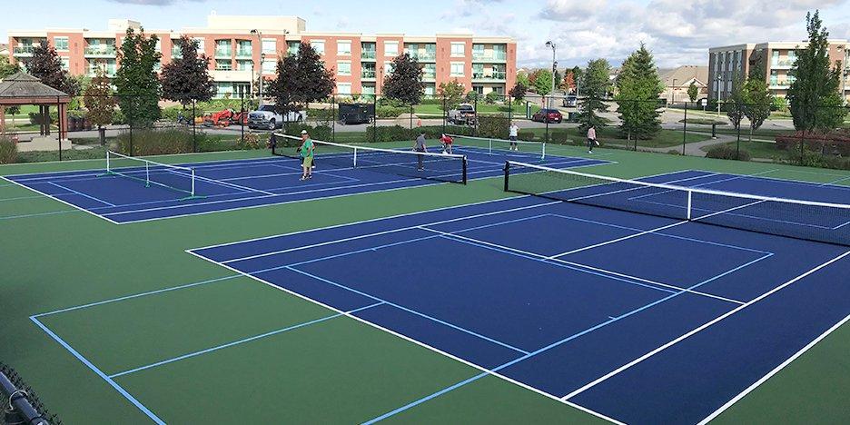 tennis court making