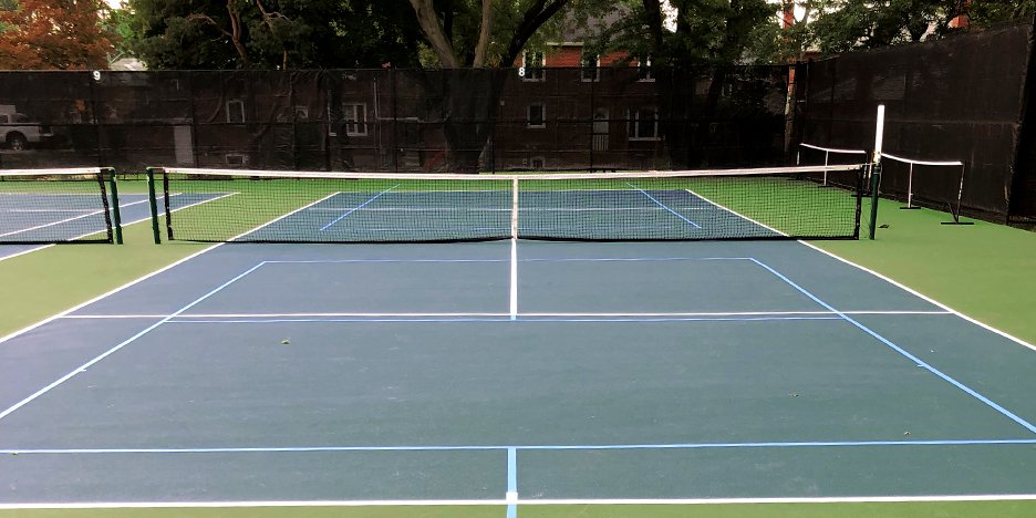 tennis courts making