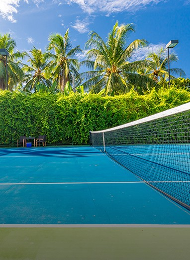 tennis landscape design