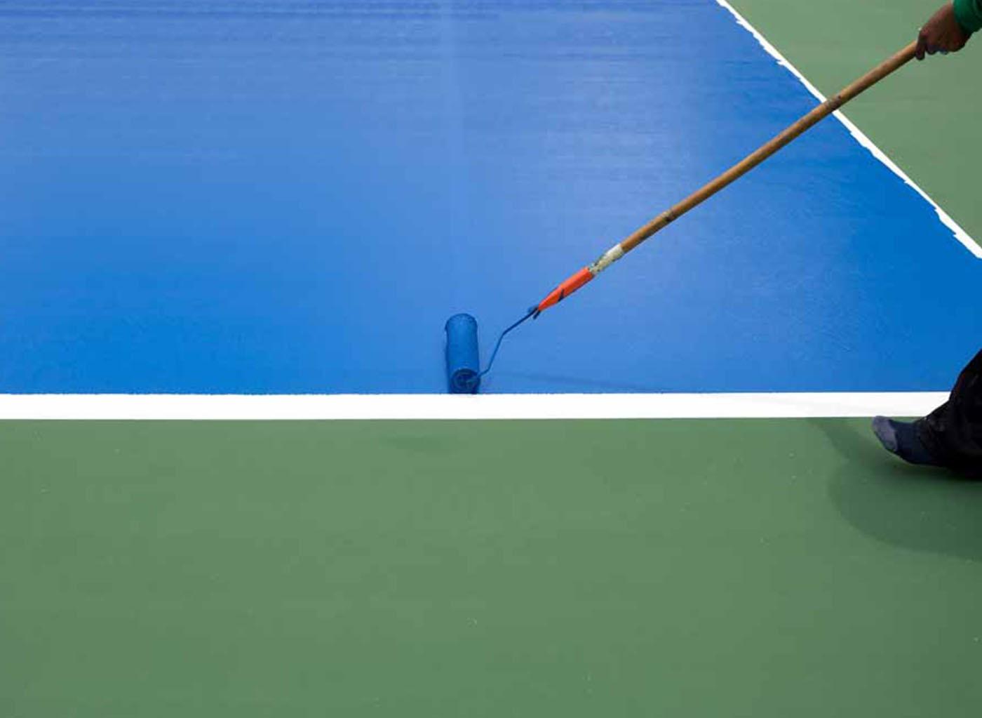 Residential Tennis Court Installation