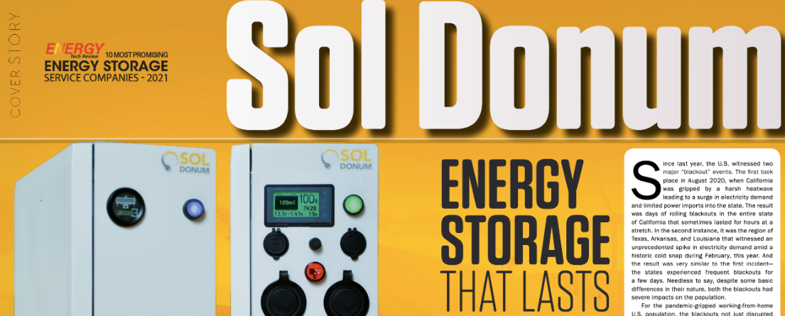 Recognition for Energy Storage Services and Transforming Businesses