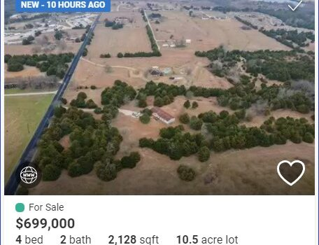 Look how close you are to the lake - Just Listed - 4360 CR 551, Farmersville, TX - featuring 10.5 acres with no deed restrictions