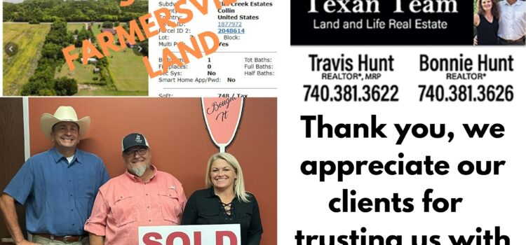 SOLD - CR 550, Farmersville, TX - 2 acres and 2 mobile homes - over asking price